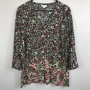 J.Jill floral blouse Top. Size large